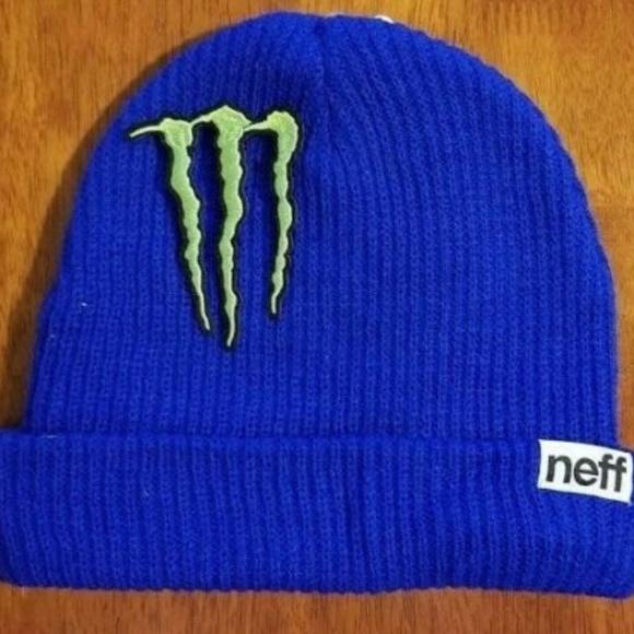 e52085b8c2132 Monster Energy Beanie Athlete Blue Winter Cap Hat